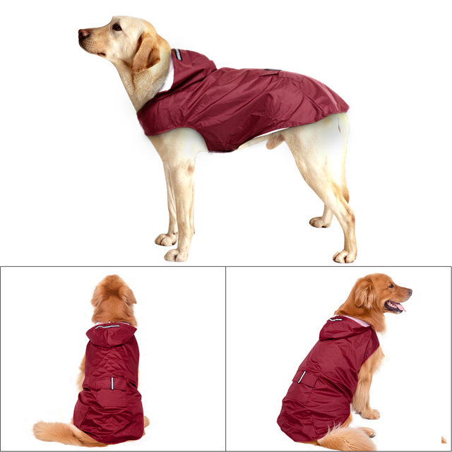 Waterproof Raincoat for Big Dogs