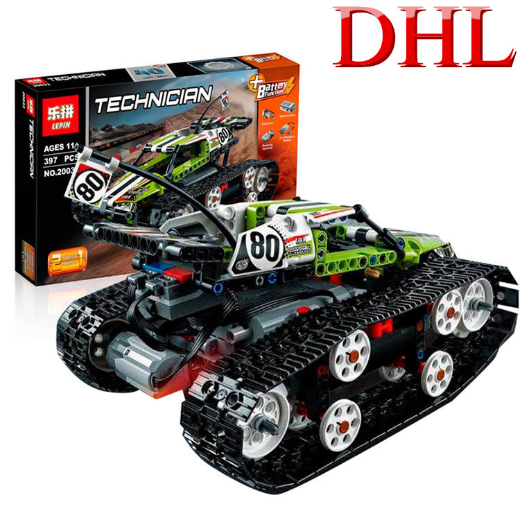397pcs technic series rc track remote control race car set building blocks bricks toys 20033 kids children birthday gift 42065