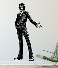 Anime One Piece Wall Sticker, Sanji, Sea Fan, Vinyl Decorative Wall Sticker, Home Living Room Boy Room Decor,  HZW06