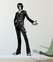 Anime 원피스 벽 스티커, Sanji, 바다 팬, 비닐 장식 벽 스티커, 가정 거실 소년 방 장식, HZW06