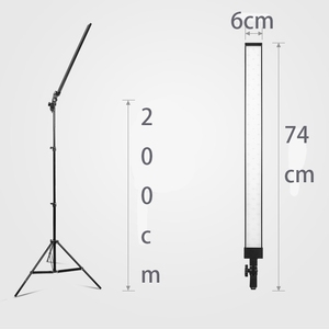 Image 2 - DEEP Photography Long Led Light Strip Photo Studio Lighting kit Photo Softbox Dimmer Switch 4pcs LED 4pcs Triod