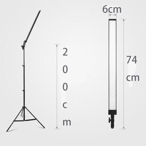 Image 2 - עמוק צילום ארוך Led אור רצועת תמונה סטודיו תאורת ערכת תמונה Softbox דימר מתג 4pcs LED 4pcs Triod