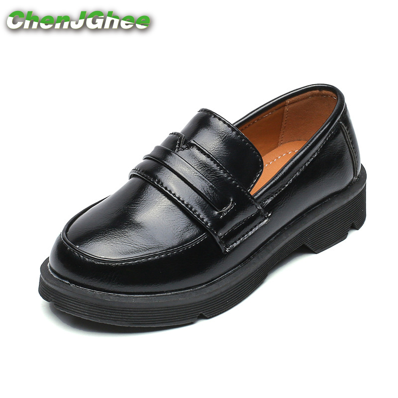 Mumoresip 2019 Kids Shoes For Boys Girls PU Leather Soft Fashion British Style Children Loafers Thick Bottom Flats Leather ShoesMumoresip 2019 Kids Shoes For Boys Girls PU Leather Soft Fashion British Style Children Loafers Thick Bottom Flats Leather Shoes