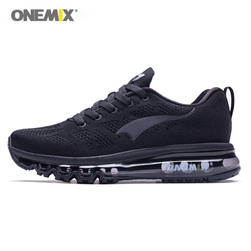 ONEMIX 2018 hommes chaussures de course légères femmes sneakers souple respirant maille Déodorant semelle en plein air de marche athlétique chaussures de jogging