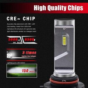 Image 2 - BraveWay CSP Chip Headlight Bulbs H4 H7 H8 H9 H11 LED Lamps for Car 12V 9005 HB3 9006 HB4 9012 HIR2 H4 Led Bulbs for Motorcycle
