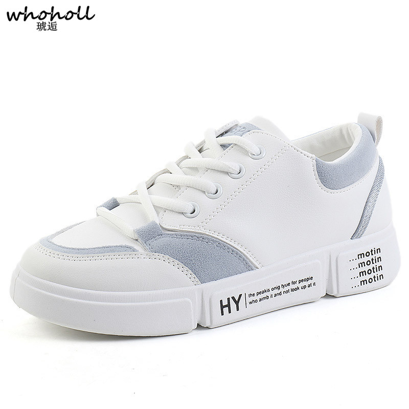 WHOHOLL Women Casual Shoes Men Vulcanize Sneakers Lover Platform Wedge White Brand Tenis Feminino Woman New Breathable Chaussure in Women 39 s Vulcanize Shoes from Shoes