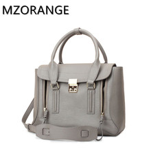 MZORANGE Genuine Leather Bag Pashli Satchel with Strap fluorescent Medium monster cute shoulder bag aslant leather handbag