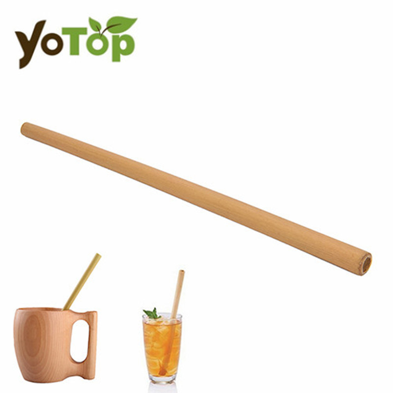 YOTOP Organic Bamboo Drinking Straw For Party Birthday Wedding Biodegradable Wood Straws Tableware Drop Shipping
