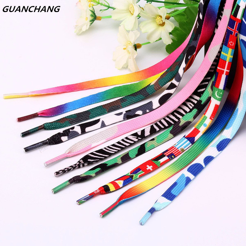 Fashion Outdoor Sport Casual Multicolor Wide Shoelaces Hiking Slip Rope Round Shoe Laces Strings Sneakers Shoelaces Skate Boots