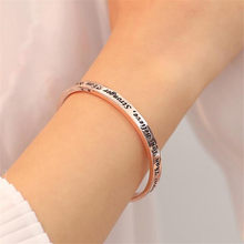 Believe Stronger Than You Seem And Smarter Think Engraved Alloy Inspirational Mantra Bracelet(China)