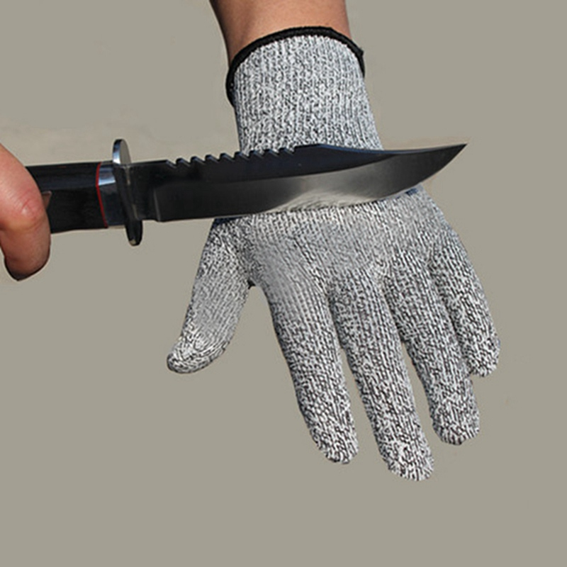 Level 5 Anti-cut Gloves Safety Cut Proof Stab Resistant Stainless Steel Wire Metal Butcher Cut-Resistant Safety Hiking Gloves