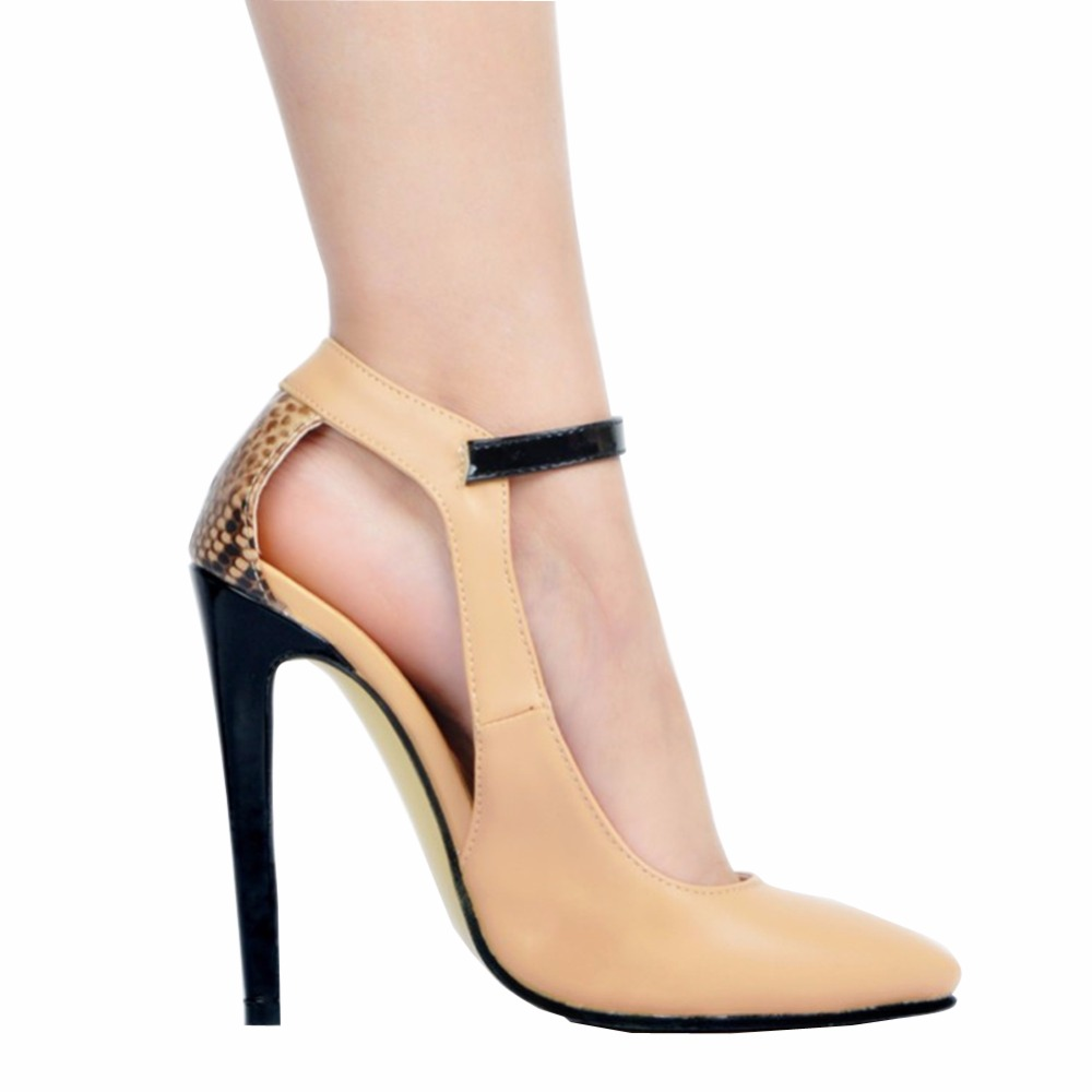 Womens Fashion Handmade 10.5cm Buckle Strap Pointed Toe Party High Heel Pumps Shoes XD006-01 amourplato womens handmade pointed toe ankle wrap flats bridesmaid ballerinas ankle strap flats shoes with buckle size5 13