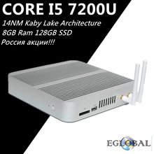 Eglobal Kaby Lake Mini Computer Core i5 7200U Max 3.1GHz Win10 Mini PC 8GB Ram 128GB SSD Intel HD Graphics 620 Wifi HTPC 4K Box