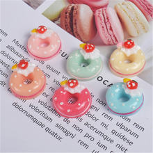 Cute Simulated Donut Filler for Clear/Fluffy Mud Box Popular Children Toys Kids Lizun Slime DIY Kit Accessories Modeling Clay E