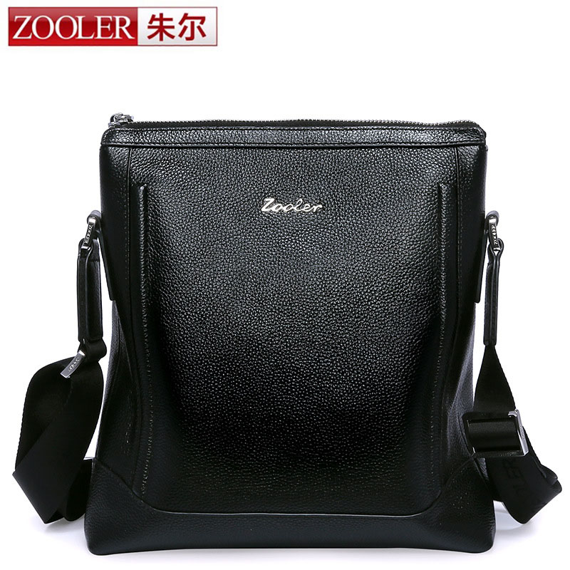 ZOOLER Genuine Leather Men Bag Men Messenger Bags Fashion Small Flap Crossbody Bags Casual Men's Leather Shoulder Bag Hot Sale mva genuine leather men s messenger bag men bag leather male flap small zipper casual shoulder crossbody bags for men bolsas