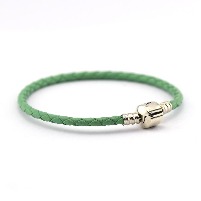 pandora pulsera cuero verde