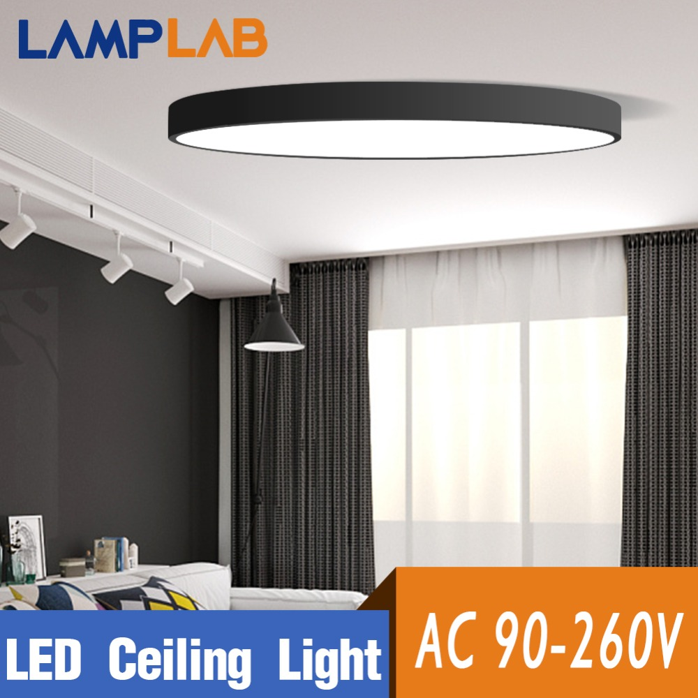 Ceiling Lights & Fans Lamplab Led Ceiling Light Modern Lamp Living Room Lighting Fixture Bedroom Kitchen Surface Mount Flush Panel Remote Control Soft And Light Ceiling Lights