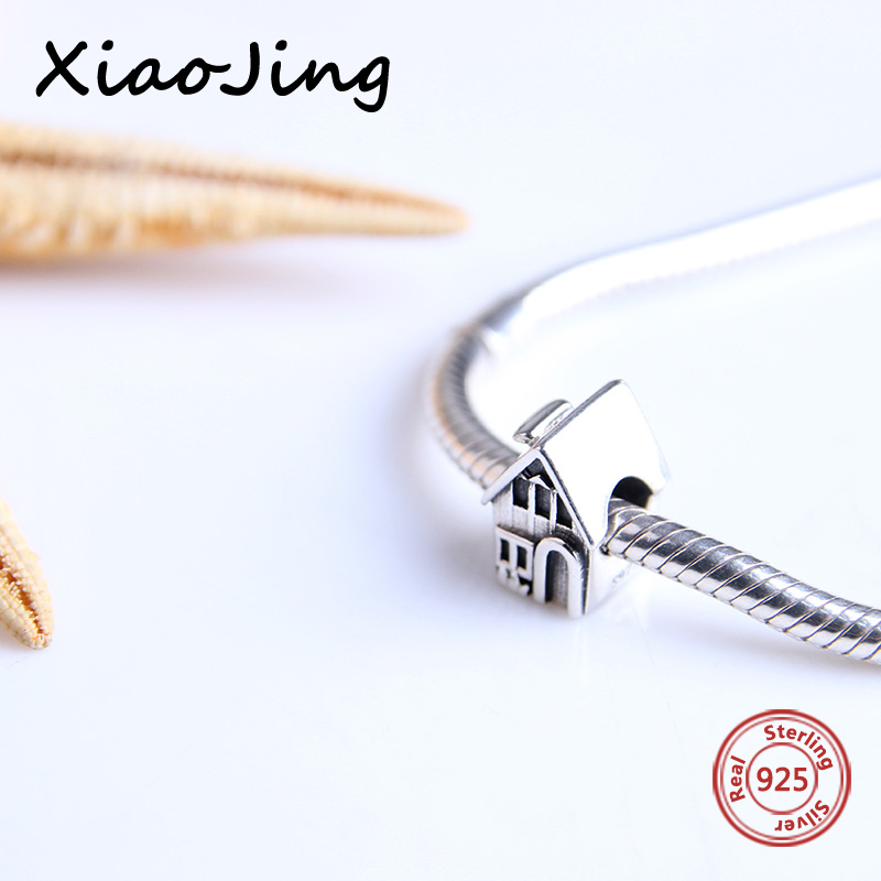 Fit pandora Bracelets Silver charms 925 Original beatiful house pandora Charms Beads Pendant bead Jewelry making women Gifts in Beads from Jewelry Accessories