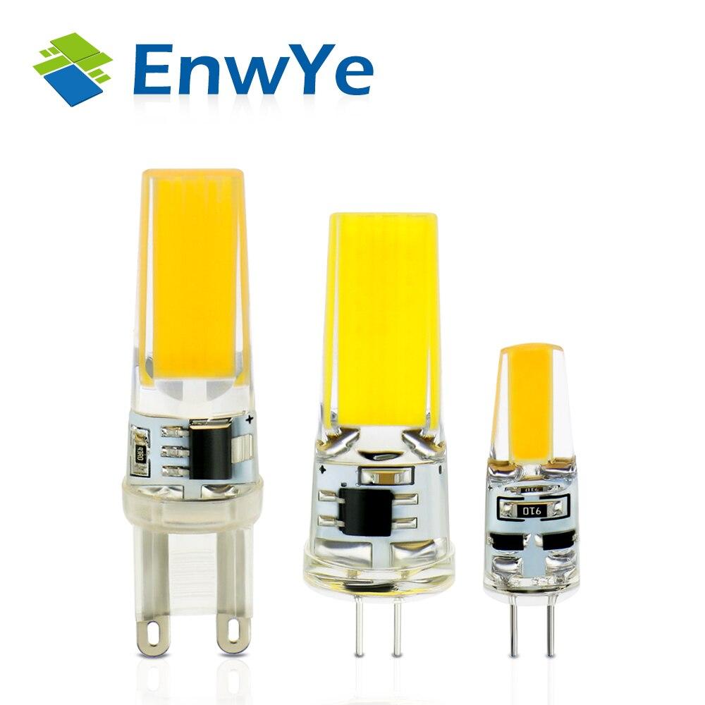 4 шт./лот светодиодный G4 <font><b>G9</b></font> лампа AC/DC 12 В 220 В 3 Вт 6 Вт затемнения удара SMD светодиодный освещение заменить галогенные фары люстры