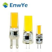 4PCS/lot LED G4 G9 Lamp Bulb AC/DC 12V 220V 3W 6W dimmable COB SMD LED Lighting Lights replace Halogen Spotlight Chandelier