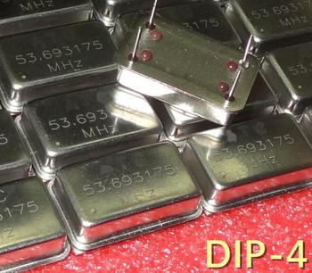 Free Shipping 50pcs/lot 53.693175MHZ 53MHZ DIP-4-line DIP-4 DIP4 full-size rectangular active crystal goods in stock
