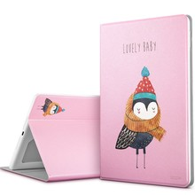 Case for iPad 9.7 2017, ESR illustration Cute Cartoon Case Scratch-Resistant Cover Hard Back Cover for New iPad 2017 Release