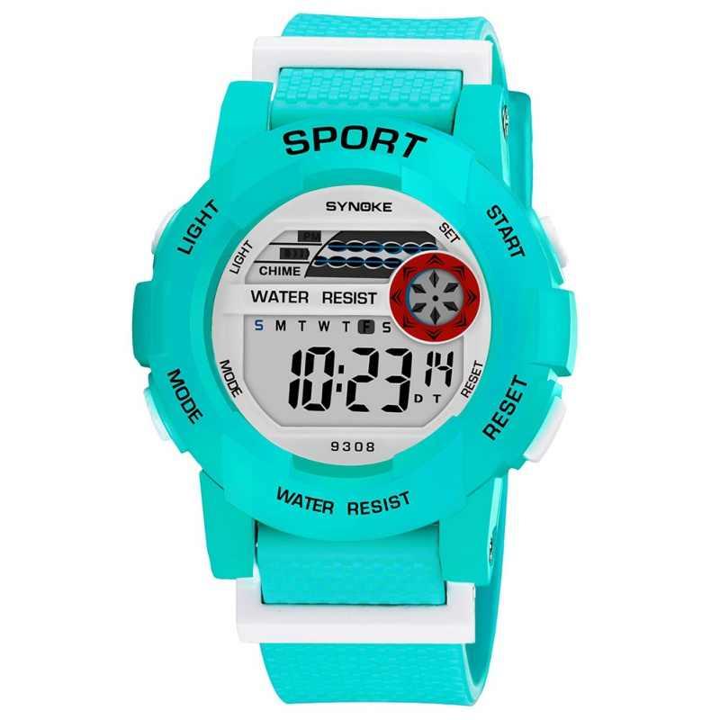 SYNOKE ילדים בייבי לצפות בנים בנות דיגיטלי שעון עמיד למים LED ספורט watch עם תאריך שעוני יד שעונים לילדים