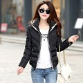 2016 Fashion Autumn and Winter Coat Female Jackets For Women Parka Hooded Short Slim Ladies Down Cotton Coat