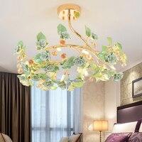 Lampada soggiorno moderno e minimalista atmosfera creativa spirale ha condotto la lampada del soffitto personalità ceramica luce di cristallo lampade camera da letto
