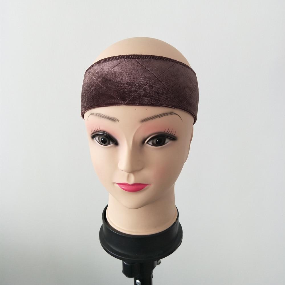 Nyt ankomst, non-slip justerbart paryk grebebånd i brun farve, der holder din paryk, hat eller tørklæde med komfortfølelse