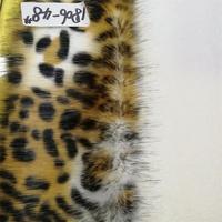 Imitation animal skin plush leopard hair cloth environmentally friendly DIY high imitation water mink fur(25 40mm pile long)