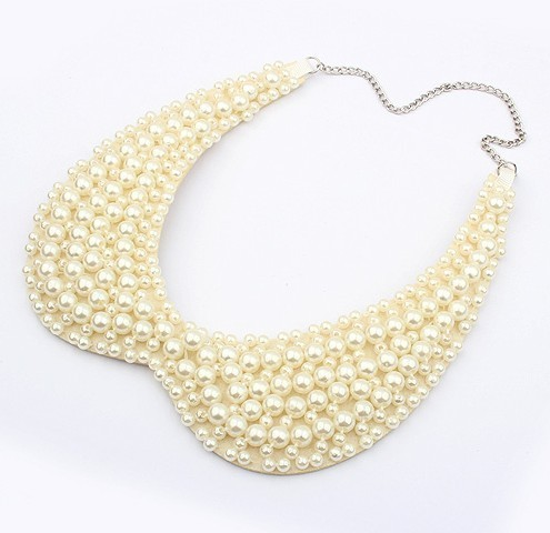 Europe and the United States sweet temperament Dickie all-match hot fashion accessories necklace (white)+free shipping93995#F106