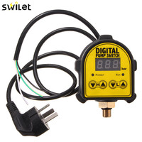 SWILET Digital Automatic Air Pump Water Oil Compressor Pressure Controller Switch For Water Pump On OFF