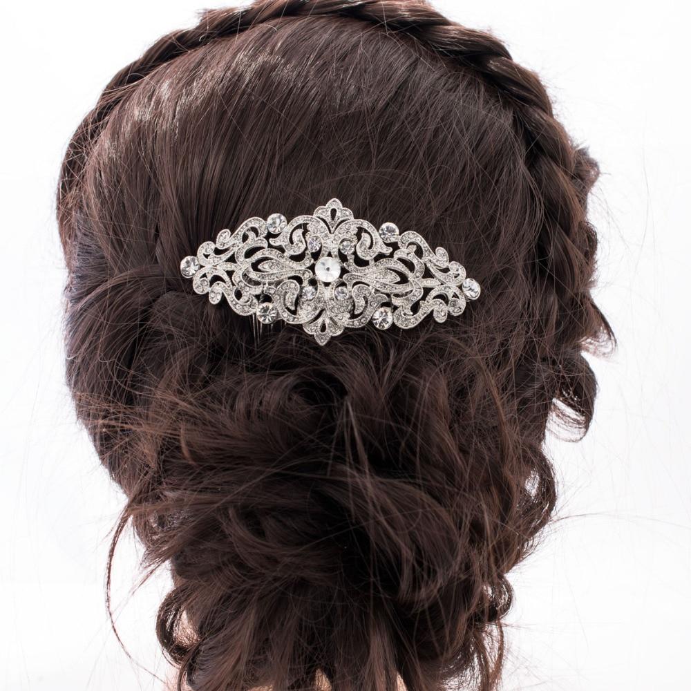 Popularni češalj za kosu s bočnim kristalima za mladenke za - Modni nakit - Foto 5