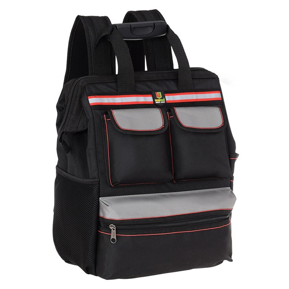 Sacs à dos multifonctionnels de stockage de sac à outils de Double épaule de tissu d'oxford pour le travailleur d'exploration d'ascenseur de Construction