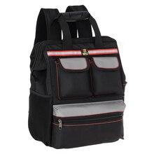 Wielofunkcyjna tkanina Oxford podwójne ramiona torba na narzędzia plecak do przechowywania torby dla winda budowlana pracownik eksploracji