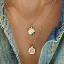 ROMAD Multi Layer Beads Choker Necklaces for Women Boho Jewelry Sexy Moon Stars Pendant Vintage Collier choker Necklace цены