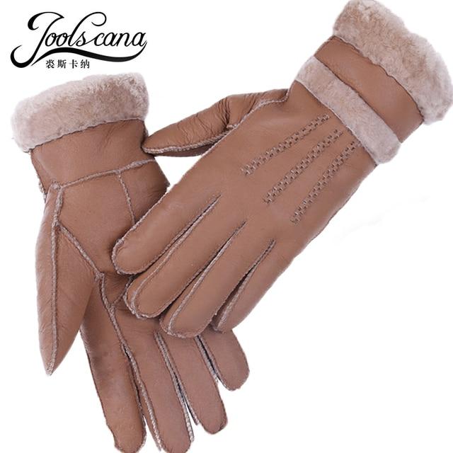 numerosi in varietà selezionare per lo spazio 100% autentico US $15.79 31% di SCONTO Joolscana guanti invernali donne guanti di pelle di  pecora Australiana vera pelle con pelliccia di lavoro manuale mittens 2017  ...