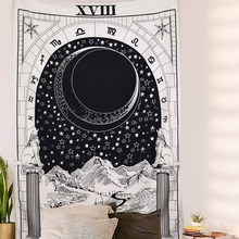 Гобелен с Луной колдовством средневековая Европа винтажный Таро divination гобелен настенный подвесной для украшения в общежитии астрологический гобелен