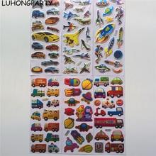 3 sheets Car Plane Bus Rocket Paper Sticker Decoration Decal DIY Album Scrapbooking Seal Kawaii Stationery Gift
