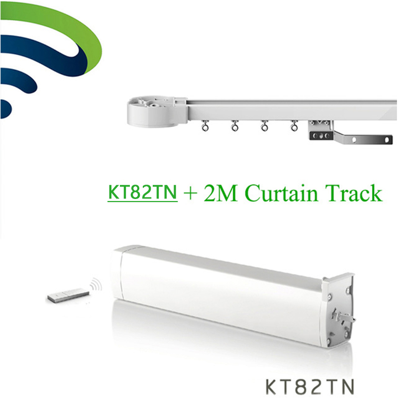 Dooya Smart Home Electric Curtain Motor KT82TN Remote DC100-240V 50 / 60MHZ + 2M CustomizableElectric Curtain Track