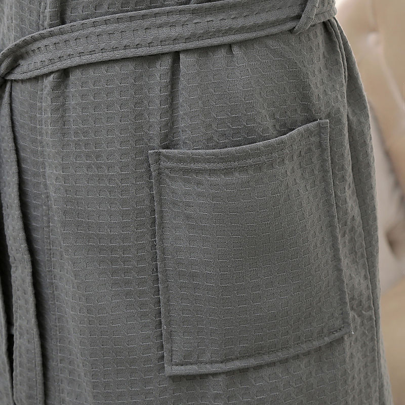 Lovers Summer Water Absorption Fashion Towel Bath Robe Men Sexy Kimono Waffle Bathrobe Mens Plus Size