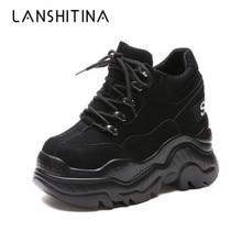 Nuevos zapatos de plataforma alta transpirables para Mujer, zapatos de aumento de altura de 12 CM de grosor, zapatillas de deporte para Mujer
