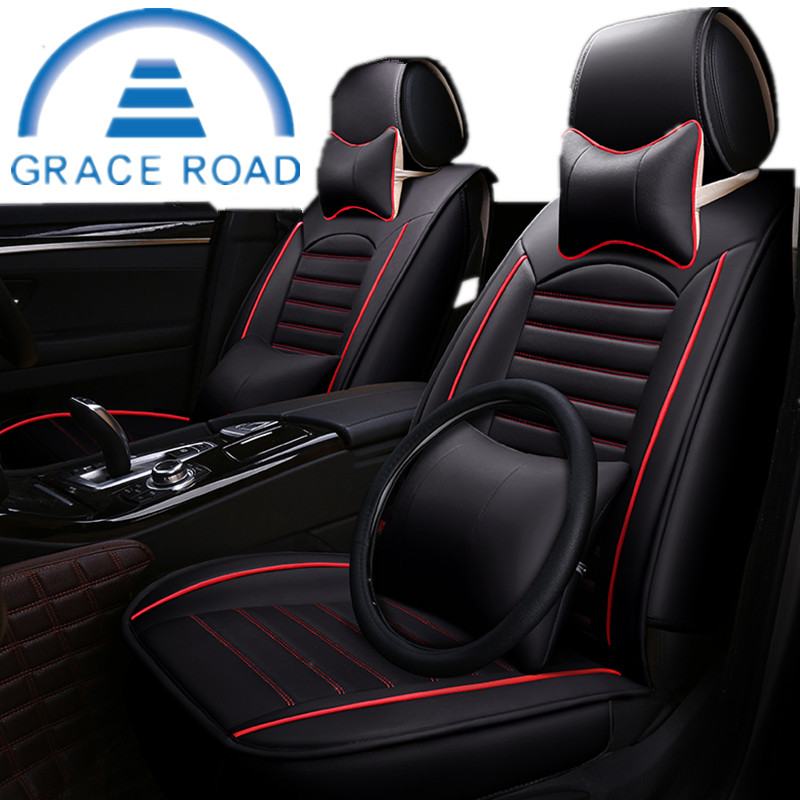 Fashion Car Interior Leather Car Seat Cover Universal Car