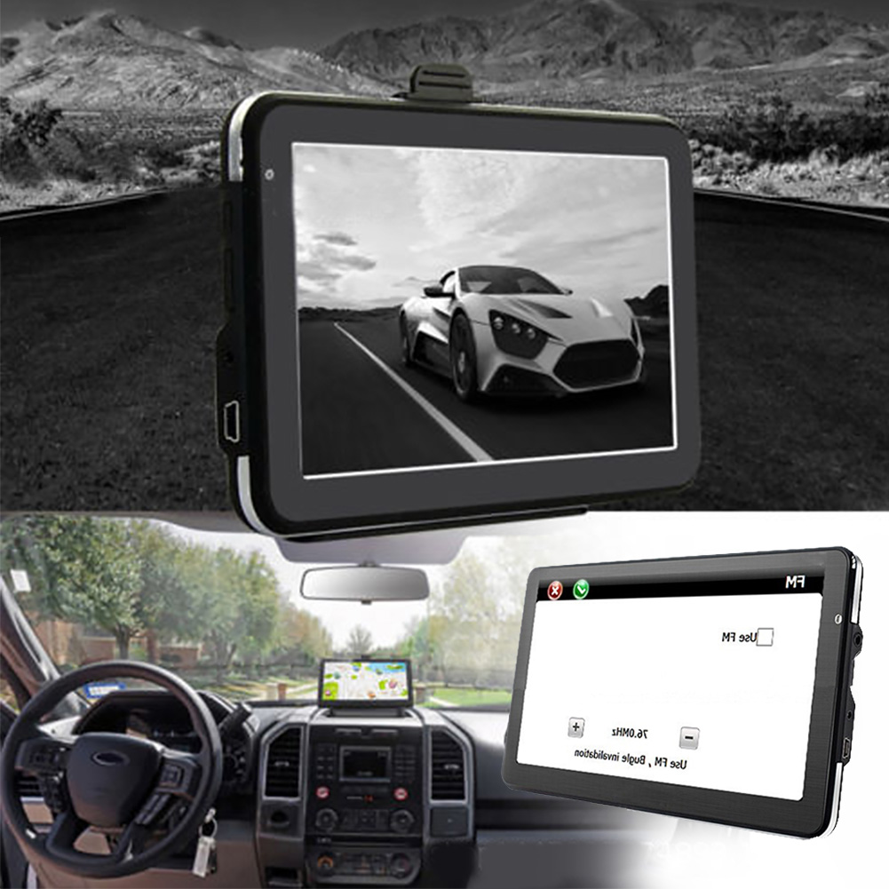 7 Inch Touchscreen Device Caravan MP3 Player Truck Universal Free Map Car HD Multilingual GPS Navigation FM Multifunction Black(China)