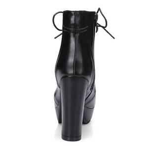 Image 4 - MORAZORA wholesale big size 34 48 ankle boots for women zipper fashion high heels boots autumn winter platform boots female
