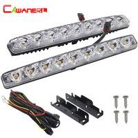 Cawanerl 9 LED Super Bright Car Fog Lamp Driving Daytime Running Light DRL White For Nissan