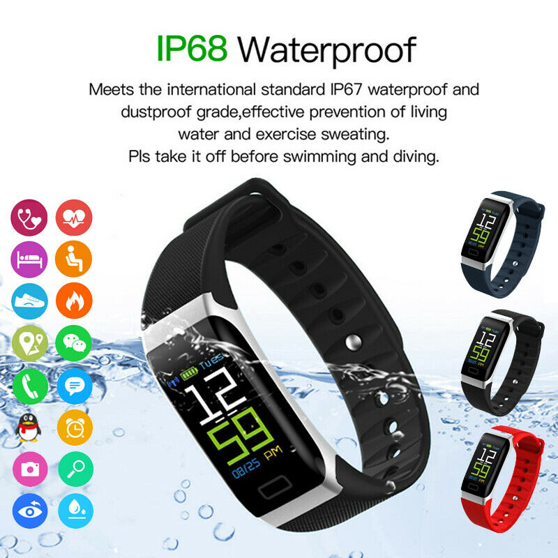 <font><b>R7</b></font> <font><b>Smart</b></font> Sport <font><b>Watch</b></font> Bracelet Wristband Heart Rate Blood Pressure Sleep Monitor Fitness Tracker For Android iOS image