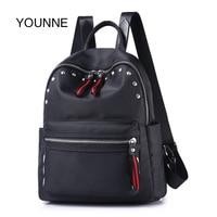 YOUNNE Women Backpacks Girls Fashion Rivet School Bags For Teenager Girl Hing Quality Oxford Cloth Backpacks
