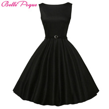 Belle Poque Women Summer Style Inspired Vintage Clothing Retro 50s Big Swing Audrey Hepburn Polka Dot Plus Size Woman Dresses